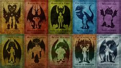 (HTTYD) Dragon Riders - 10 posters (20 × 29 cm) : Affiches, illustrations, posters par the-curious-shop