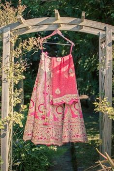 Pink Heavily Embroidered Bridal #Lehenga.