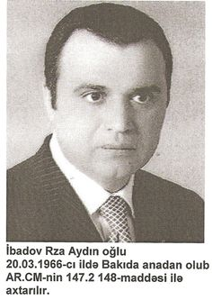 AZERBAIJAN: POLITICIAN: RZA IBADOV: In 1999, he was the chairman of the Azerbaijani parliamentary foreign affairs commission.  Called for NATO to protect the planned Baku-Ceyhan export pipeline for Azerbaijan's Caspian oil.  Source: Interfax as reported in a Radio Free Europe Radio Liberty news compilation November 23, 1999.