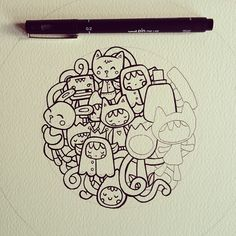doodles doodle drawing draw kawaii drawings sleepyheads march sketch making behance doodling paper illustration sketches updates sketchbook journal azreenchan super