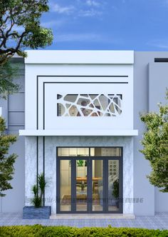 thiet ke nha pho hien dai gia re Flat House Design, Narrow House Designs, Modern House Design, Independent House, Loft House, House Elevation, Facade House, Door Design, Home Fashion