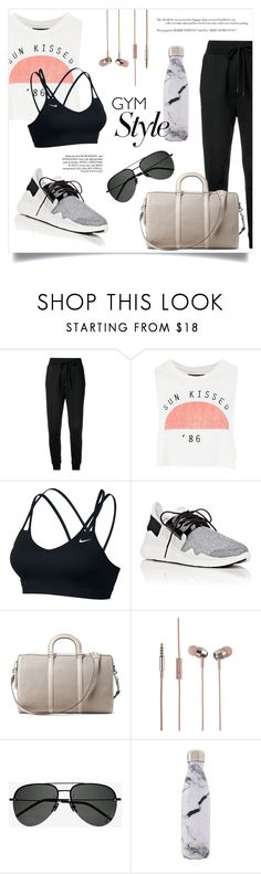 """Untitled #309"" by danniela2699 ❤ liked on Polyvore featuring Love Moschino, Topshop, NIKE, Y-3, MICHAEL Michael Kors, Trust, Yves Saint Laurent, West Elm and gymessentials"