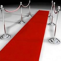 Make your party guest feel very special when they walk up this Red Carpet runner. It's the perfect decoration for a Hollywood themed party. #HollywoodParty