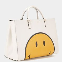 Anya Hindmarch Autumn Winter 2014, Smiley Maxi Featherweight Ebury