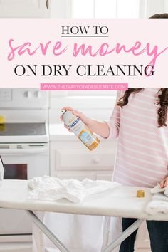 Looking to cut back on your dry cleaning bill? Steph shares her top 5 clothing hacks, including tips on how to use starch spray at home, in today's post! Diy Cleaning Products, Dry Cleaning, Housekeeping Tips, Iron Board, How To Iron Clothes, Laundry Hacks, Friend Outfits, Clothing Hacks, Spring Cleaning