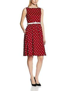 12, Red, Lindy Bop Women's Audrey Red Polka Dress NEW