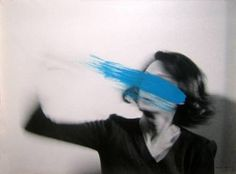 Kelly Weasrstler blue paint portrait