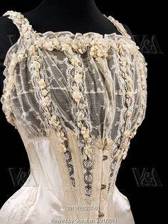 1905, bridal corset.
