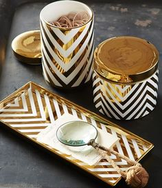 gold chevron accessories  http://rstyle.me/n/ucy8apdpe