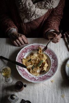 pumpkin and chestnut pasta, with bacon, parmesan and sage and served in a browned sage butter with roasted chestnuts and grated parmesan Pumpkin Pasta, Vegan Pumpkin, Gnocchi Recipes, Pasta Recipes, Egg Recipes, Pumpkin Recipes, Savoury Recipes, Sage Butter, Roasted Chestnuts