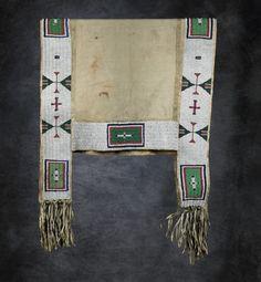 Sioux Beaded Saddle Blanket - High Noon Western Americana Native American Regalia, Native American Beadwork, Horse Mask, Indian Horses, Saddle Blanket, High Noon, Horse Gear, Native Beadwork, Loom Bracelets