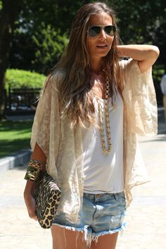 Summer boho-LOVE but need longer shorts