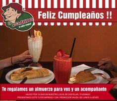 Hoy cumplen Marcela Ortiz Ayelen Neleya  y Julio Alberto Castro Les deseamos que pasen un lindo día y de regalo tienen un almuerzo para 2 personas en Lo de Carlitos Castelar   Ituzaingo