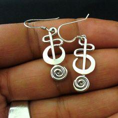 Handmade Sterling Silver Twisted Wire Earrings