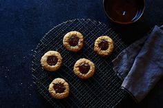 Salty tahini chocolate cookies