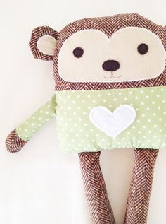 Valentines gifts for my little monkeys.  Monkey Sewing Pattern PDF