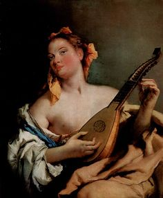 Lute player by Lorenzo Tiepolo