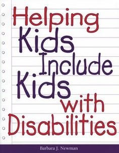 Excellent plan for building awareness among children. Information about specific areas of disablity, lesson plans, letters, and devotionals.