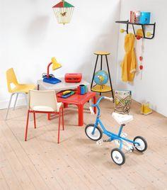 kids room, chambre d\'enfant rétro #vintage #retro #enfant #rotin ...