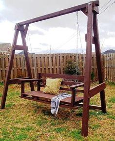 Одноклассники Backyard Swing Sets, Diy Swing, Porch Swing, Garden Swings, Swing Seat, Large Backyard, A Frame Swing Set, Swing Set Plans, Frame Stand