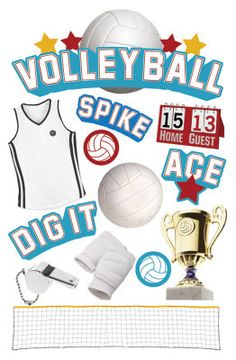 The Paper House® 3D voleyball stickers