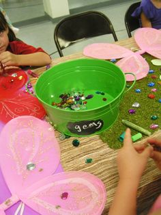 Fairy Party - decorating Dollar Tree Halloween Wings