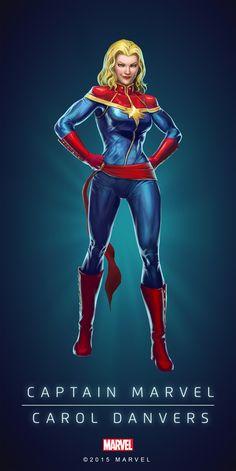 Carol Danvers Captain Marvel Poster-01