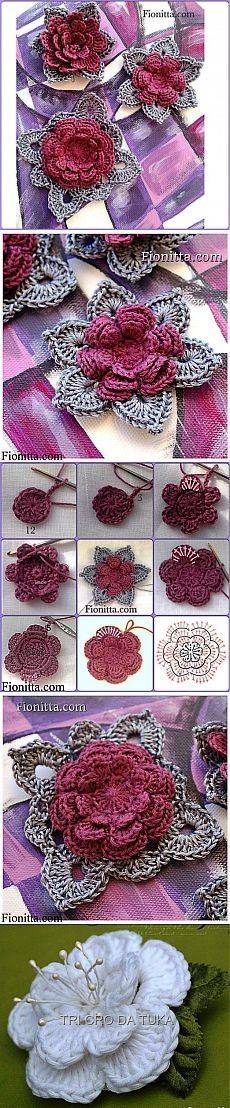 Watch The Video Splendid Crochet a Puff Flower Ideas. Phenomenal Crochet a Puff Flower Ideas. Crochet Flower Tutorial, Crochet Flower Patterns, Crochet Motif, Diy Crochet, Crochet Crafts, Crochet Stitches, Crochet Projects, Crochet Embellishments, Mode Crochet