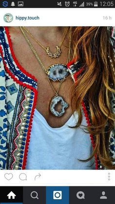 hippie jewels | Jacket: necklace, festival, hippie, jewels, jewelry, gold ...