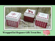 (53) Wrapped In Elegance Gift/Treat Box - YouTube