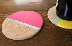DIY home crafts DIY Painted Striped Coasters DIY home crafts