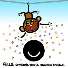 The fEllo. A friendly fEllo = frEllo. #socialmedia #monkey
