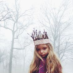 Stick Crown. Every little girl needs a stick crown to go treasure hunting in the woods. It would be good luck.