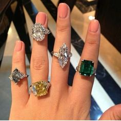 Graff diamond rings ~ Instagram