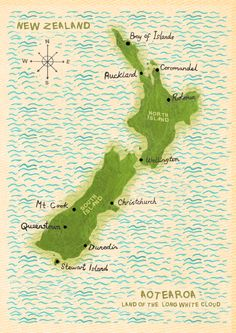 48 Best NZ map images