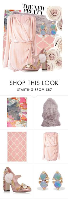"""""""Untitled #650"""" by pauloskompanieros on Polyvore featuring Pier 1 Imports, nuLOOM, Attico, Dolce&Gabbana and WWAKE"""