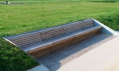 Extension Killesberg Park, Stuttgart 2012 #garden #outdoors #decor #idea #seat #modern design #architects #clever # #diseño de asiento banco en jardin por arquitectos alemanes decoracion idea inteligente