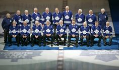 1967 Leafs gather in 2007 for 40th anniversary of Stanley win. Back row from left: Karl Elieff (physiotherapist), Ron Ellis, Marcel Pronovost, Jim Pappin, Aut Erickson, Pete Stemkowski, Brian Conacher, Larry Jeffrey, Mike Walton, Bob Haggert (Trainer). Front row from left: Larry Hillman, Bob Baun, Red Kelly, Bob Pulford, George Armstrong, Allan Stanley, Johnny Bower, Frank Mahovlich and Dave Keon..