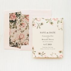 Blush garden rose save the dates featuring champagne paper and a shimmery blush envelope! Wedding Cards, Wedding Day, Floral Wedding, Dream Wedding, Save The Date Wording, Sage Green Wedding, Floral Save The Dates, Bridal Shower Cards, Luxury Wedding Invitations
