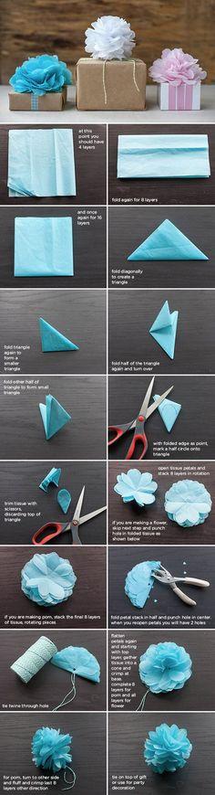 Pelur kağıdı meselesi - Tissue paper crafts, pompom, garland..