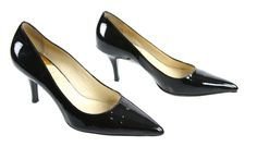 Cole Haan Black Patent Leather Pointed Toe Pumps Size 6.5 #ColeHaan #PumpsClassics #Formal