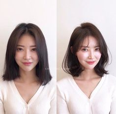 longer bangs, but good length Haircuts For Medium Length Hair, Oval Face Haircuts, Medium Hair Cuts, Medium Hair Styles, Kpop Short Hair, Korean Short Hair, Korean Haircut, Curly Hair Cuts, Curly Hair Styles