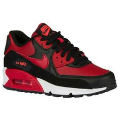 d51eb0b1cabb red black and white nike air max Air Max 90 - Boys  Grade School - Running  - Shoes - Gym Red Gym Red Black Bright Crim