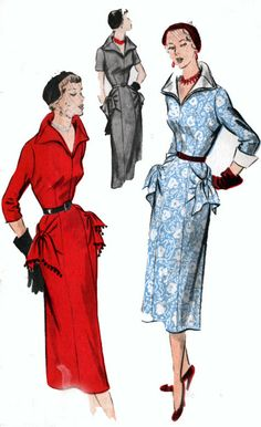 1950s Vintage Sewing Pattern Advance 5658 COUTURE by sandritocat, $70.00