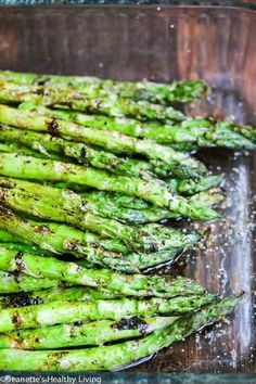 Grilled Asparagus with Balsamic Soy Butter Sauce Recipe FoodBlogs.com