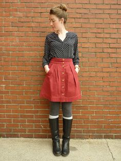 """love this look. i'd prefer a more pink-toned skirt though.   from """"what would a nerd wear"""""""