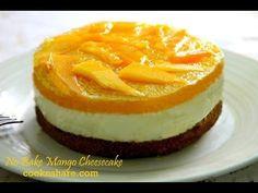 No Bake Mango Cheesecake - YouTube
