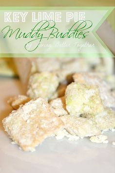 Key Lime Pie Muddy Buddies by Living Better Together (Lemon Chex Mix) Yummy Treats, Delicious Desserts, Dessert Recipes, Yummy Food, Sweet Treats, Cereal Recipes, Chex Recipes, Puppy Chow Recipes, Margaritas