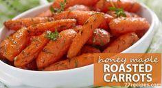 Honey Maple Roasted Carrots – Skinny and Healthy