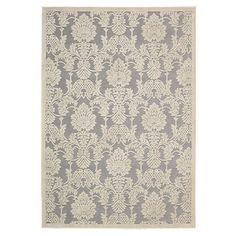 Blended into your living room or master suite ensemble, the dramatic damask motif of this woven rug adds an aristocratic air to your decor.